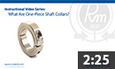 What are one-piece shaft collars