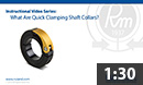 What are quick-clamping shaft collars